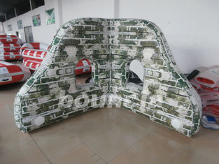 China Pvc-Bunkers van geteerd zeildoek de Bemoste Opblaasbare Paintball voor Paintball-Sporten fabriek