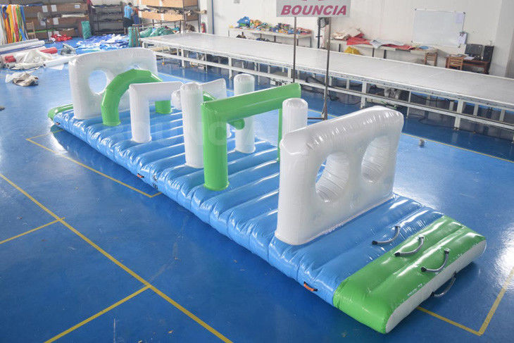 Swimming Pool Floating Inflatable Obstacle Course With 0.9mm PVC Tarpaulin
